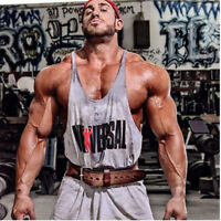 New Gym Singlets Men's Tank Top for Bodybuilding and Fitness vest Shirt T-shirt