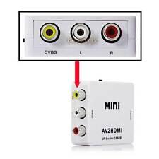 1080P AV2HDMI Mini RCA AV to HDMI Converter Signal Converter for TV VHS VCR DVD