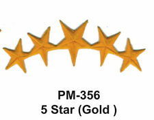 "3"" 5 STAR (GOLD) Embroidered Military Patch"