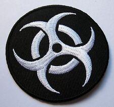 BIOHAZARD SYMBOL RADIATION BLACK LOGO Embroidered Iron on Patch Free Shipping
