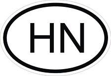 HN HONDURAS COUNTRY CODE OVAL STICKER bumper decal car