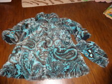 CORKY & COMPANY 6 GORGEOUS BLUE BROWN COAT AND HAT LOT M/L