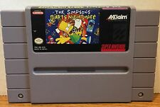 The Simpsons Barts Nightmare Super Nintendo SNES Game Cartridge Classic Cleaned
