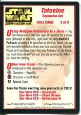Star Wars CCG Tatooine Light Side Rule Card 3 Of 3