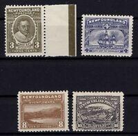 G129775/ NEWFOUNDLAND / CANADA / SG # 97 – 98 – 101 - 103 MINT MH – CV 240 $