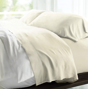 Cariloha® Resort 400-Thread-Count Viscose Made From Bamboo Queen Sheet Set in Iv
