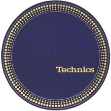 Pair Felts Anti-static Wipes Record Player Slipmats Technics Strobe Blue / Gold