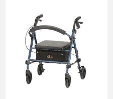 NOVA Rolling Heavy Duty Walker Folding Seat Senior Medical Durable Rollator