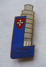 DISTINTIVO SPILLA PISA LITTORIALI FEMMINILI LAVORO 1941 TORRE TOSCANA REGNO