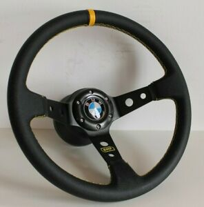 Steering Wheel BMW Deep Dish Leather E36 E38 E39 E46 Z3 Sport Racing 1999-2004