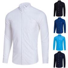 Mens Casual Botton Down Shirts Slim Long Sleeve Business Formal Party Shirt 34