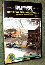 "20022 MODEL RAILROAD VIDEO DVD ""BUILDING THE RGS #1"" DURANGO"