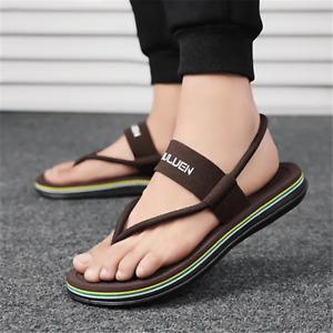 Men Slippers Sandals Anti-Slip Flip Flops Beach Casual Flat Shoes Light Outdoor