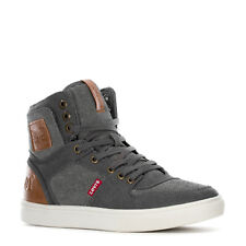 LEVIS MASON 501 HI ATHLETIC SPORTS SNEAKERS MEN SHOES CHARCOAL/TAN SIZE 10 NEW