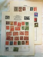 49 Various Antique Australian Stamps Inc Queen Victoria Penny Red & George V