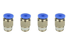 """4x TEMCo Pneumatic Air Quick Push to Connect Fitting 1/8"""" NPT to 1/8"""" Hose OD"""