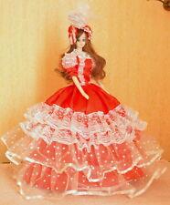 Spieluhr Puppe Hochzeit Auswahl Rot 48cm