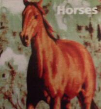 Horse Soft Cudly Animal Throw Fleece Blanket Brown Tan Gift