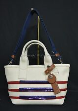 NWT! Marc By Marc Jacobs M0007856 Small Stripes Tote in Ecru & Breton Red