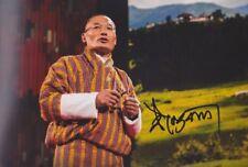 TSHERING TOBGAY Bhutan Foto 20x30 signiert IN PERSON Autograph signed Autogramm