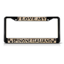 Spinone Italiano Dog Pet Metal License Plate Frame Tag Border Two Holes