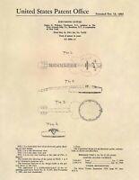 Gretsch Vintage Gretsch Guitar US Patent Art Print - Vintage Antique Guitar -686