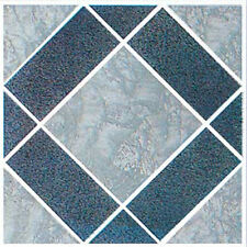 Gray Vinyl Floor Tile 20 Pcs Adhesive Bathroom Flooring - Actual 12'' x 12''