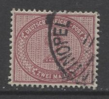 1875 German offices Turkey 2 M. forerunner used,  -CONSTANTINOPEL-, $ 585.00