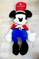 "Genuine Original Disney Huge 30"" NUTCRACKER MICKEY MOUSE SOLDIER Soft Plush"