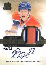 Ryan Nugent-Hopkins 2011-12 The Cup Autograph Rookie 3-Color Patch 92/93 RC Auto