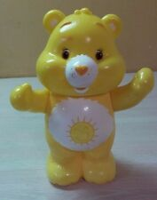 "Care Bears Funshine Bear Yellow Hard Plastic Jointed Arms Head 7.5"""