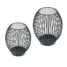 2pcs / set métal creux bougeoir photophore bougie chauffe-plat lanterne