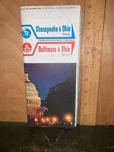 Baltimore & Ohio Chesapeake & Ohio Railway Timetable 1963