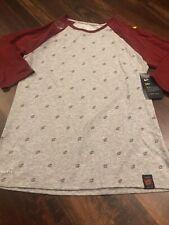 Nike Women's Cleveland Cavaliers NBA 3/4 Shirt Size Medium Gray Maroon