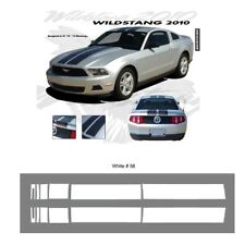 Ford Mustang 2010-2012 w/ Lip Wildstang Dual Stripe Graphic Kit - Bright White