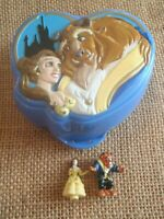 Vintage Polly Pocket Bluebird Disney Beauty & the Beast Play Case Complete V1