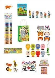 ANIMAL / JUNGLE party bag fillers pencils stickers bags book sand animal masks
