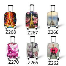 Paris Eiffel Tower Travel Luggage Suitcase Cover Protective Elastic Dust-Proof