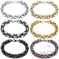 Edelstahl Herren Byzantiner Armband Königskette Königsarmband silber gold braun