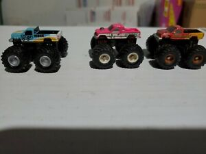1990 Galoob Micro Machines Monster Trucks Crusher, Clydesdale 2, & Tough Rider
