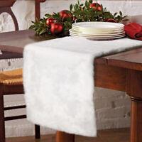 Luxury Christmas Table Runner Snowy White Faux Fur Table Runner Xmas Table Decor