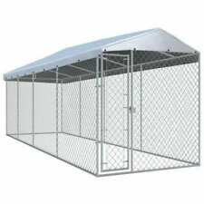 vidaXL 145031 Outdoor Dog Kennel with Roof