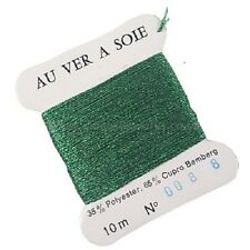 Au Ver A Soie Metallic Balger Embroidery Thread 008 Green