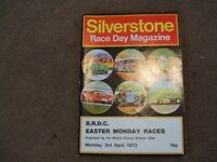 Silverstone BRDC Easter Monday Races Race Day Magazine Programme 3rd April 1972