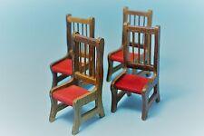 Vtg DollHouse Miniature Wood Kitchen Chair Set Lot Furniture Accessory
