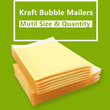 5~100pcs Kraft Bubble Envelopes Padded Mailers Shipping Self-Seal Bags 2 Sizes