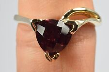 Luxury Natural Mined 2.5 ct Cushion Cut Trillion Amethyst Solitaire 14k Gold