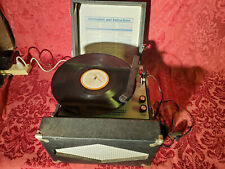 Vintage Hamilton Model 930 Portable Record Player, Travel Turntable, GUARANTEED!