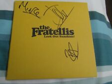 """SIGNED THE FRATELLIS LOOK OUT SUNSHINE 7"""" VINYL-MINT"""