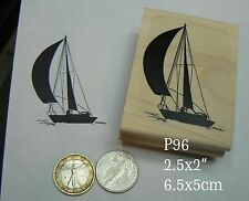 P96 Sailboat silhouette rubber stamp